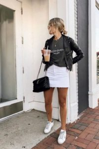 outfit with sneakers