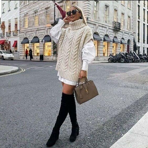 Πουκάμισο και πουλόβερ