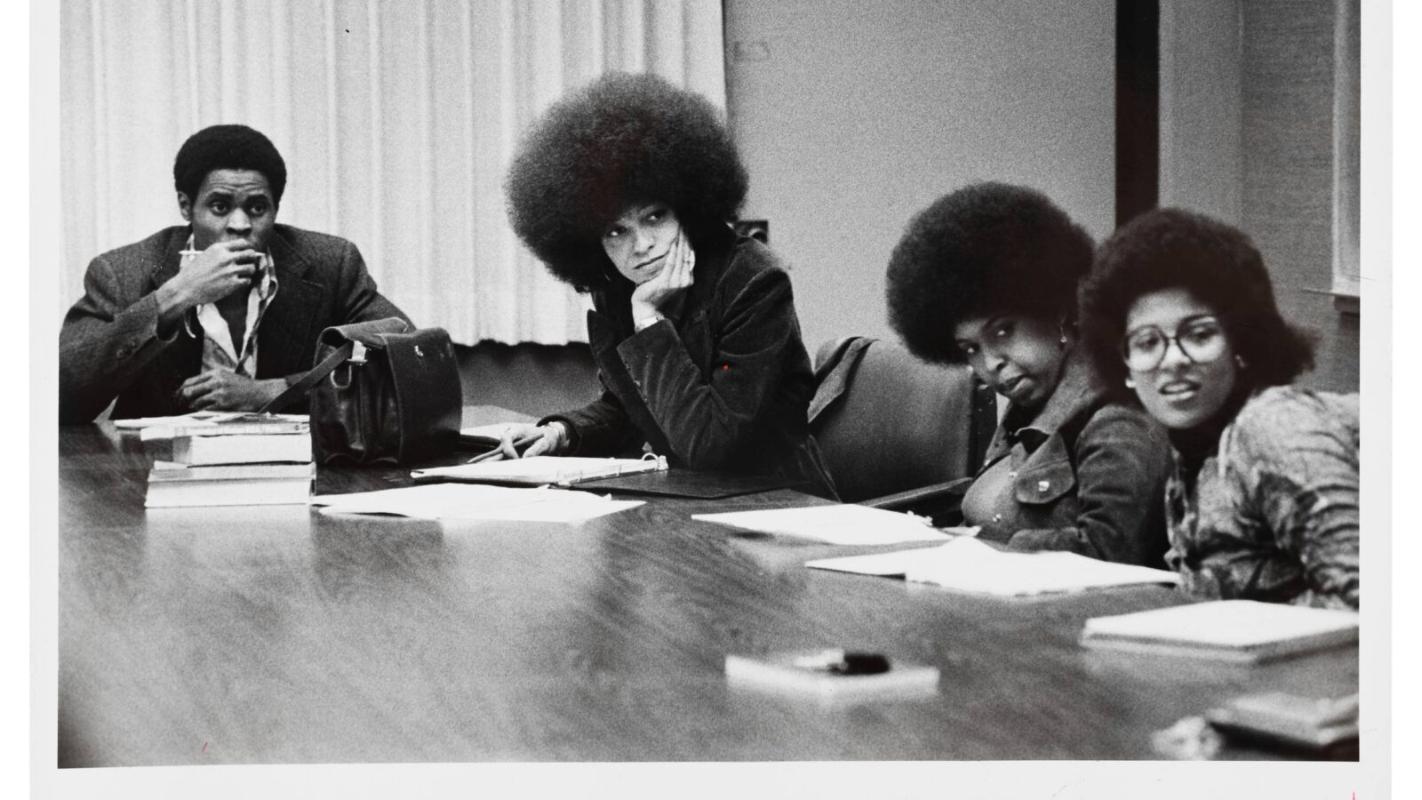 Angela Davis at court room
